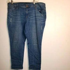 Jcp Distressed Skinny Jeans size 16W